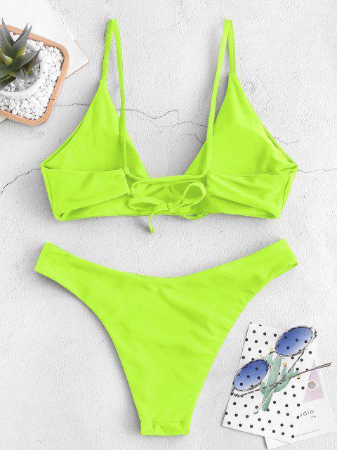 BikiniBraletteAnnodatocon Laccidi ZAFUL - Verde Giallo S Mobile