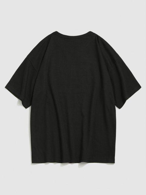 T-Shirt Basic con Maniche Corte - Nero XL Mobile