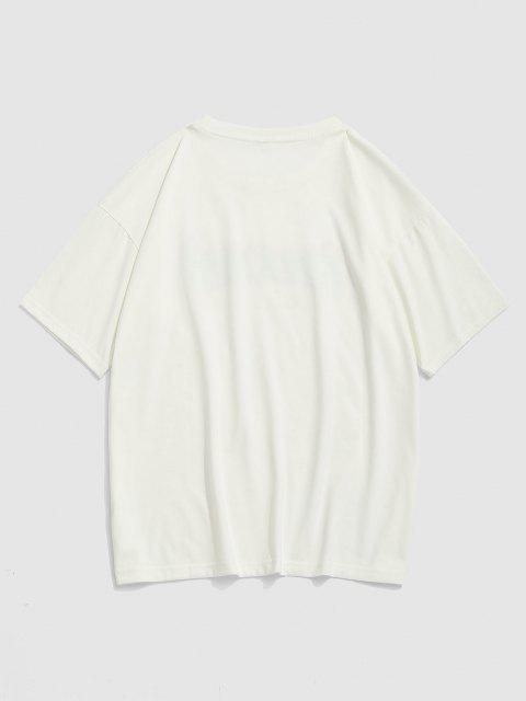 latest Fire Dreamer Short Sleeve Basic T-shirt - WHITE XXL Mobile