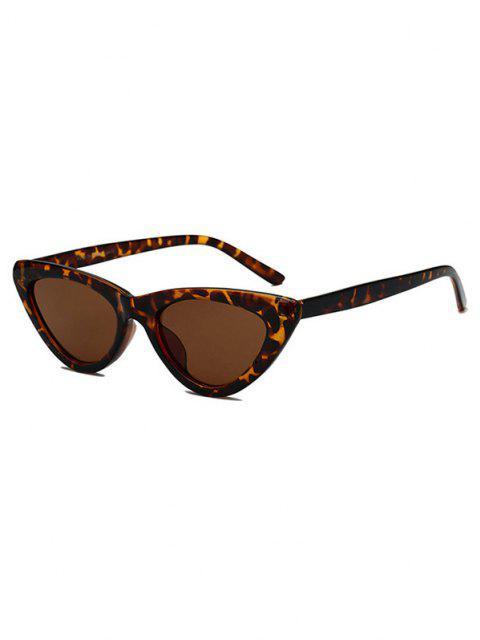shop Retro Triangle Frame Slim Sunglasses - LEOPARD  Mobile