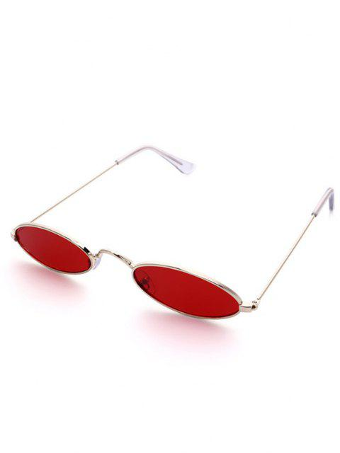 outfits Metal Oval Small Sunglasses - RED  Mobile