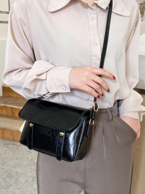 buy Retro Crossbody Messenger Bag - BLACK  Mobile