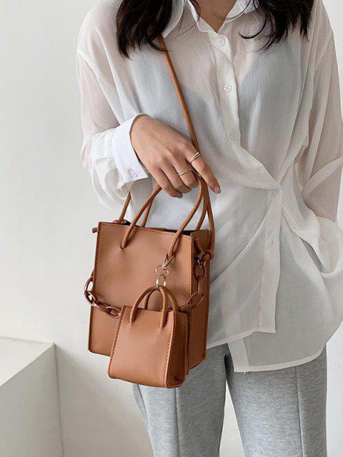 2Pcs Rectangle Chain Tote Bag Set - يوسفي  Mobile