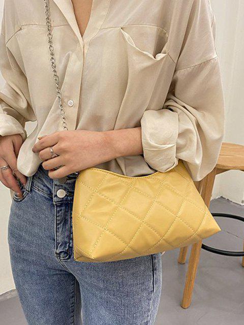 Gesteppt Kette Umhängetasche Tasche - Sonne Gelb  Mobile