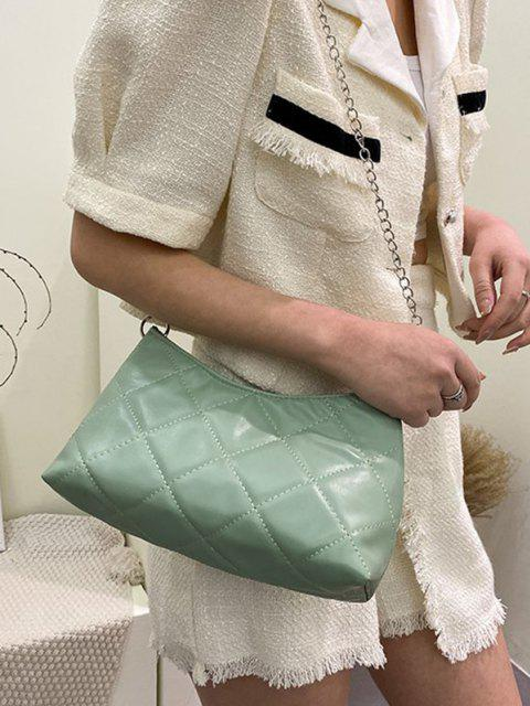 shop Quilted Chain Crossbody Bag - AVOCADO GREEN  Mobile