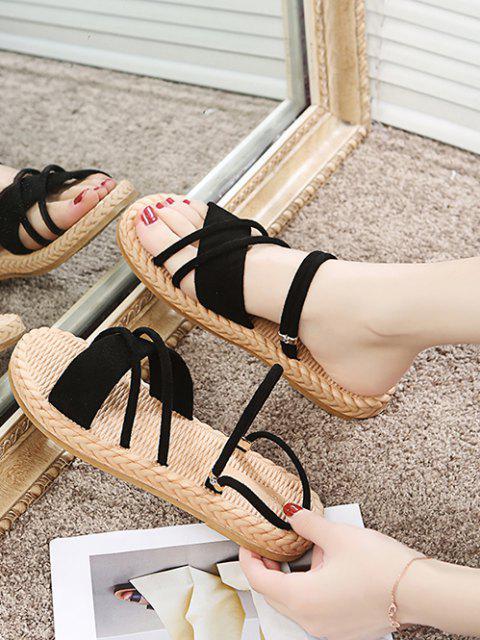 Sandales à Bretelle Croisée - Noir EU 37 Mobile
