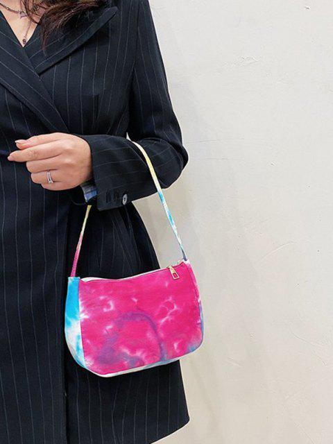 online Cotton Colorful Print Shoulder Bag - ROGUE PINK  Mobile