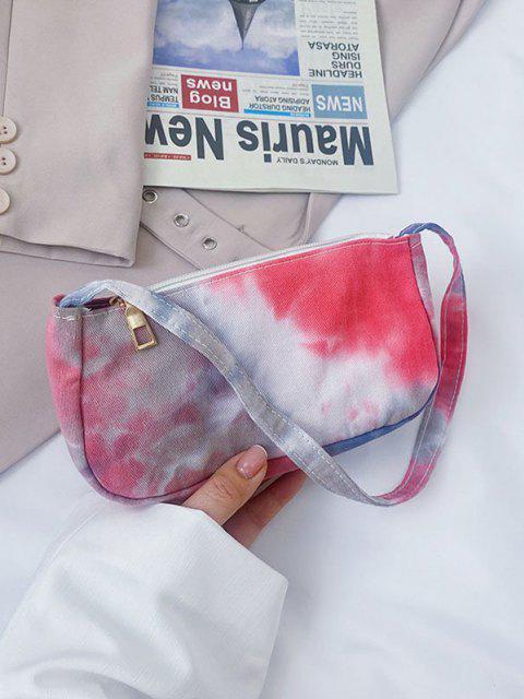 Mini Umhängetasche aus Baumwolle mit Wolken - Rot  Mobile