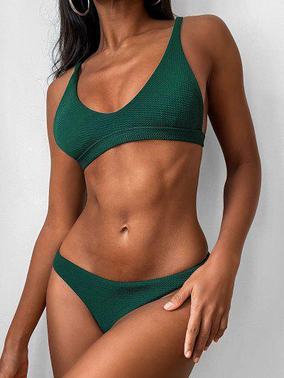 Gepolstertes Scoop-Bikini-Set Mit Niedriger Taille - Grün S