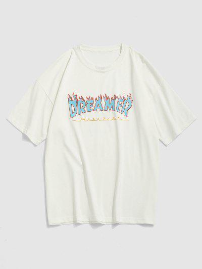 Fire Dreamer Short Sleeve Basic T-shirt - White Xxl