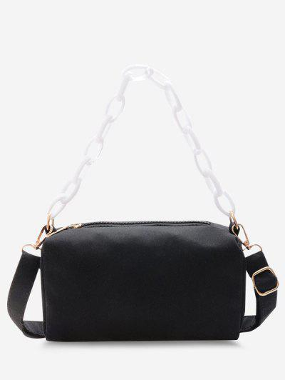 Rectangle Chain Crossbody Bag - Black