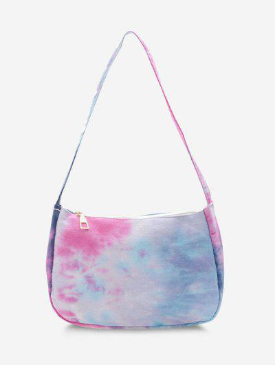 Cotton Colorful Print Shoulder Bag - Light Sky Blue
