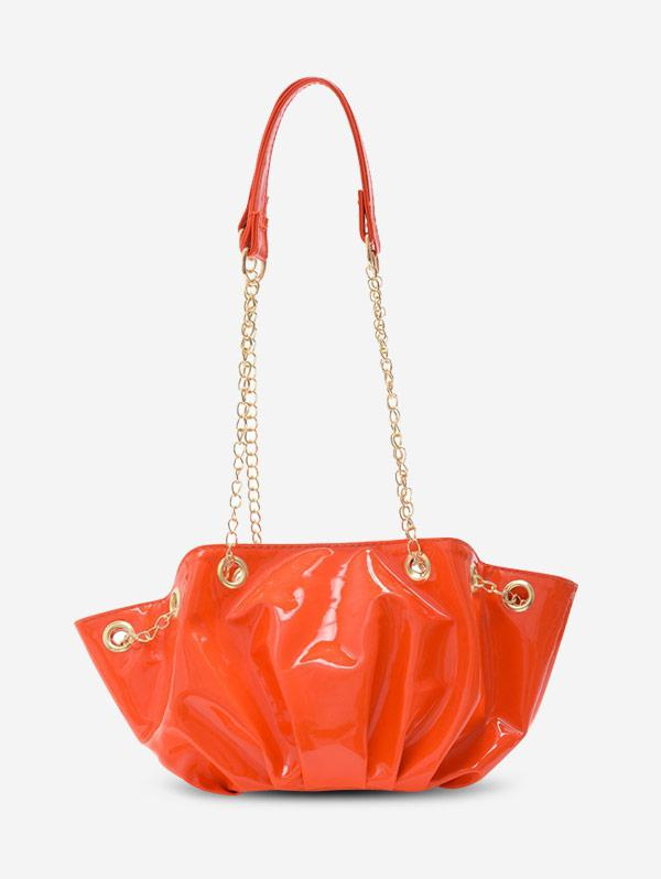 Pleated Chain Shoulder Bag
