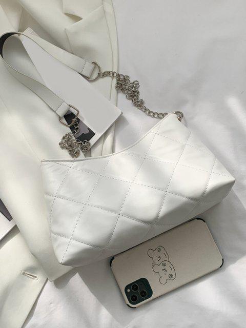 Sac à Bandoulière Matelassé avec Chaîne - Blanc Chaud  Mobile
