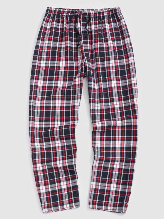 Pantaloni Casuali a Quadretti - Rosa Chiaro M