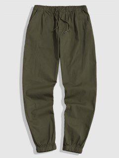 Drawstring Casual Jogger Pants - Army Green Xl