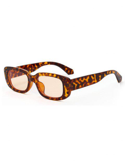 new Rectangle Frame Anti UV Slim Sunglasses - LEOPARD  Mobile