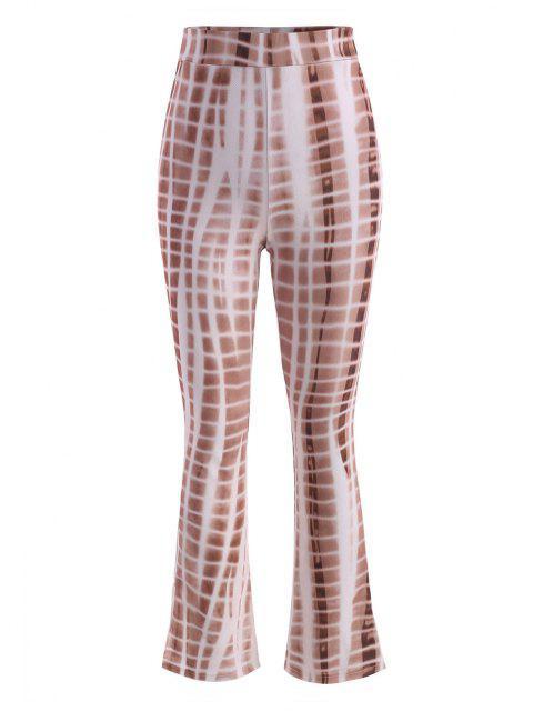 Pantaloni Svasati di Tie-Dye con Spacco - caffè M Mobile