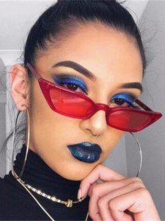 Eye Frame Slim Tinted Anti UV Sunglasses - Red