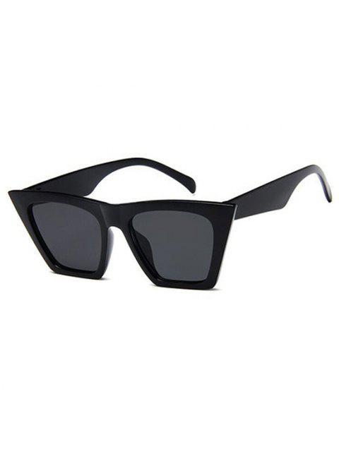 unique Square Frame Tip Gradient Tinted Sunglasses - BLACK  Mobile