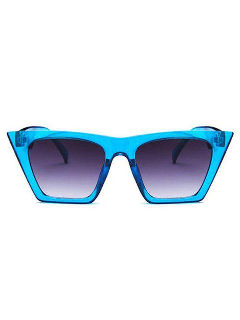 sale Square Frame Tip Gradient Tinted Sunglasses - CRYSTAL BLUE  Mobile