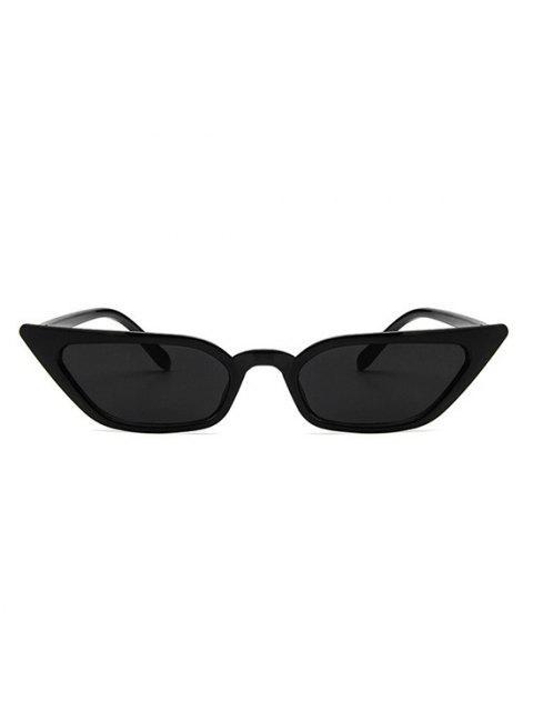 affordable Eye Frame Slim Tinted Anti UV Sunglasses - BLACK  Mobile