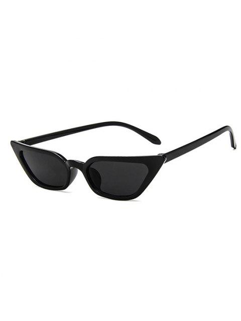 Eye Frame Slim Tinted Anti UV Sunglasses - أسود  Mobile