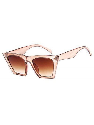 Square Frame Tip Gradient Tinted Sunglasses - Tan