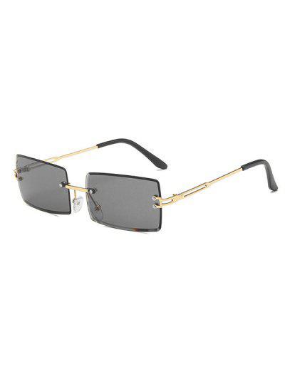Gafas De Sol Rectángulo Marco Metálico - Negro