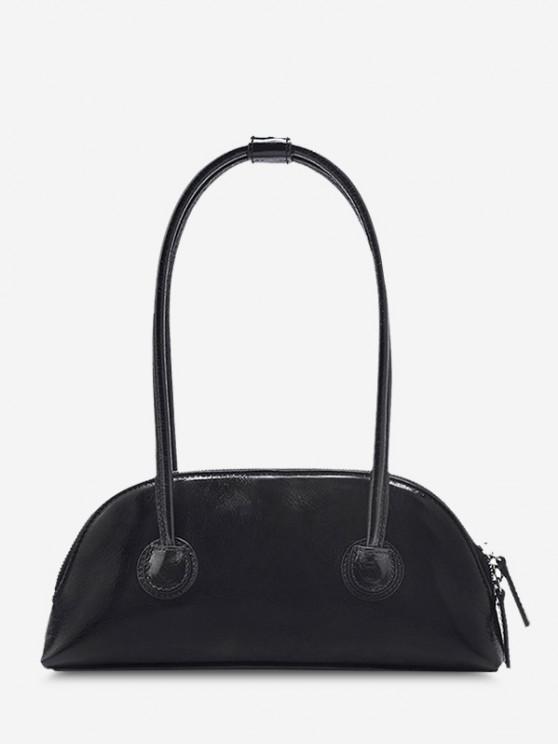 Minimalistische Doppelte Dünne Griff-Mini-Handtasche - Schwarz