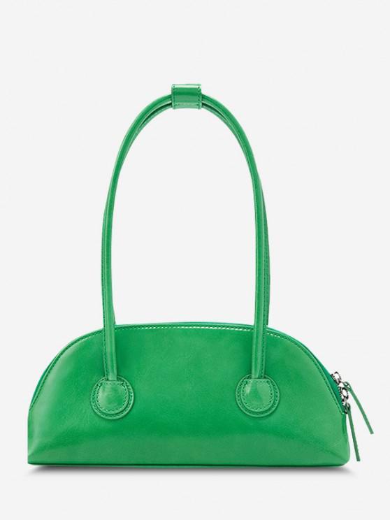 sale Minimalistic Double Thin Handle Mini HandBag - GREEN