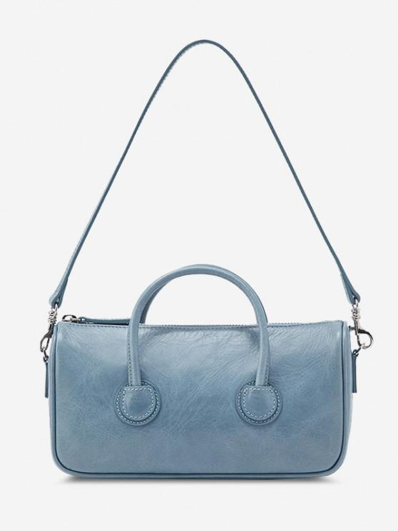 affordable Solid Dual Handle Mini Shoulder Bag - JEANS BLUE