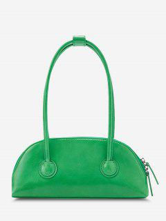 Minimalistic Double Thin Handle Mini HandBag - Green