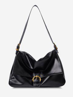 Brief Cover Shoulder Bag - Black