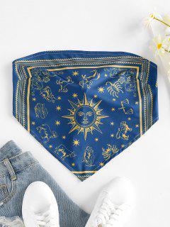 ZAFUL Haut Sans Bretelles Noué Au Dos Soleil à Imprimé Noix De Coco - Bleu Profond S
