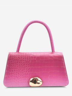 Ombre Embossed Dual Handle Chain Crossbody Bag - Rose Red
