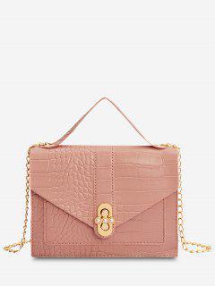 Faux Pearl Chain Crossbody Bag - Pink