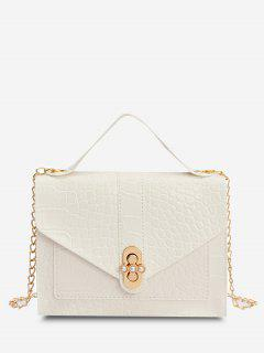 Faux Pearl Chain Crossbody Bag - White