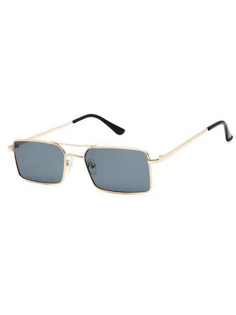 womens Rectangle Crossbar Metal Sunglasses - GRAY  Mobile