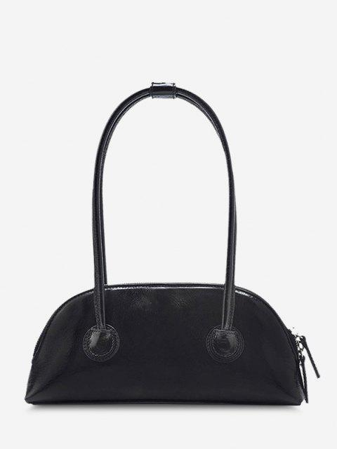 trendy Minimalistic Double Thin Handle Mini HandBag - BLACK  Mobile