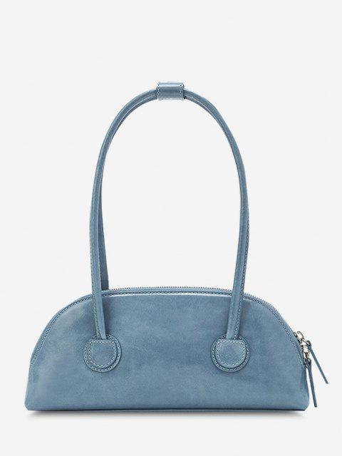 fashion Minimalistic Double Thin Handle Mini HandBag - SKY BLUE  Mobile