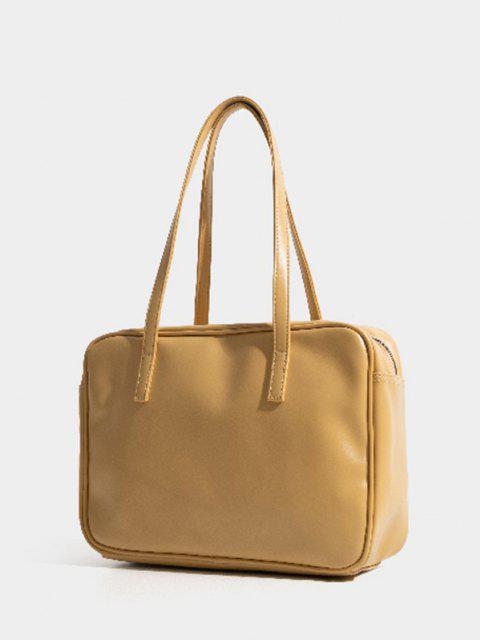 women's Minimalist Business Shoulder Bag - YELLOW  Mobile