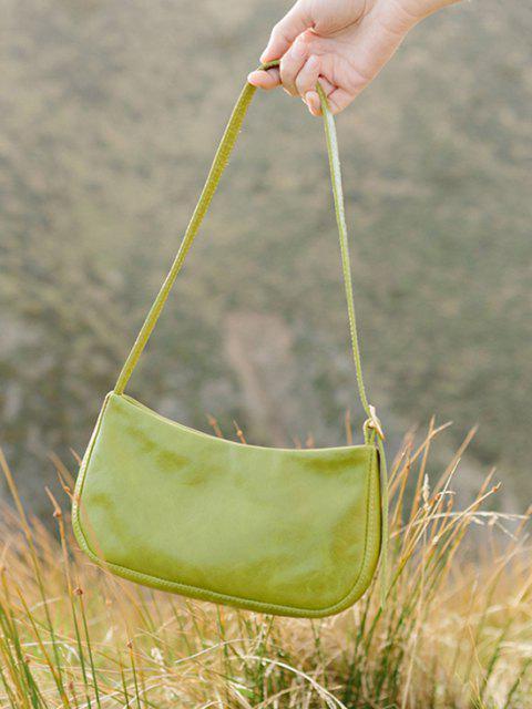 online Minimalistic Buckle Strap Solid Shoulder Bag - PISTACHIO GREEN  Mobile