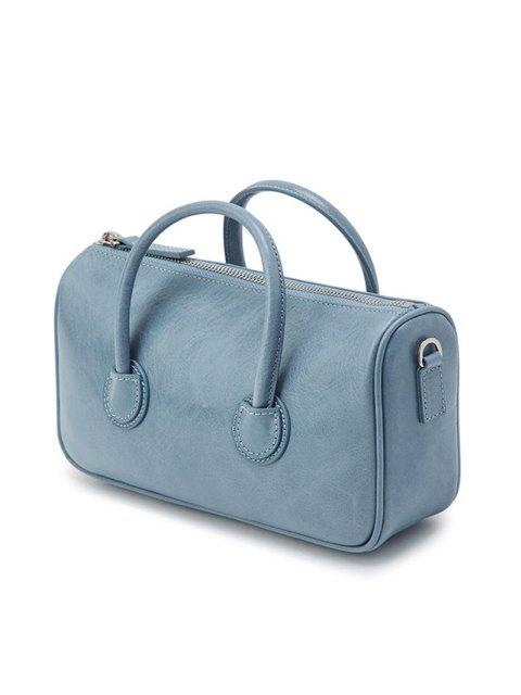 affordable Solid Dual Handle Mini Shoulder Bag - JEANS BLUE  Mobile