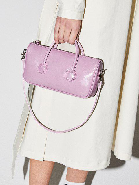 new Solid Dual Handle Mini Shoulder Bag - PINK  Mobile