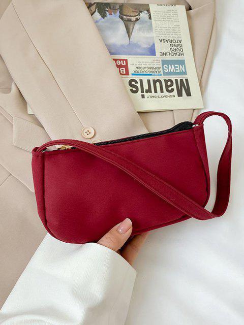 Einfarbige Rechteckige Mini Lässige Umhängetasche - Rot  Mobile