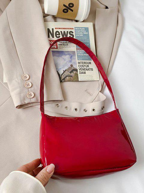 Umhängetasche aus Massivem Kunstleder - Roter Wein  Mobile