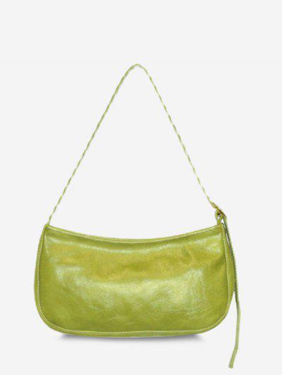 Minimalistic Buckle Strap Solid Shoulder Bag - Pistachio Green