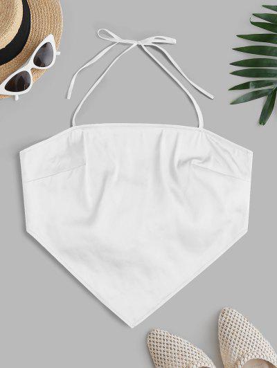 ZAFUL Back Tie Halter Bandana Top - White L