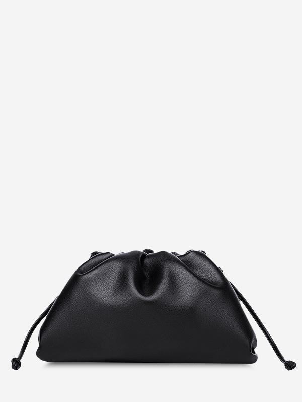 Solid Ruched Knot Detail Shoulder Bag